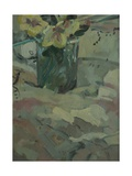 Yellow Flowers in Green Pot, 2009 Giclee Print by Pat Maclaurin