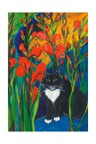 Tom and Gladioli, 1998 Giclee Print by Sarah Gillard