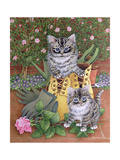 Garden Helpers Giclee Print by Pat Scott