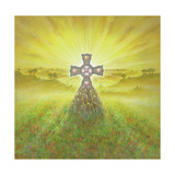 Celtic Cross Giclee Print by Simon Cook