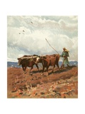 Ploughing Giclee Print by Henry Andrew Harper