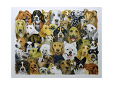 Dog Friends Giclee Print by Pat Scott