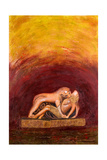 The Lioness and the Nubian Boy, 2006 Giclee Print by Firyal Al-Adhamy