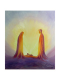 Mary and Joseph Look with Faith on the Child Jesus at His Nativity, 1995 Giclee Print by Elizabeth Wang