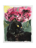 Black Tulips Giclee Print by Anne Robinson