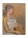 Girl with Violin, 2007 Giclee Print by Pat Maclaurin