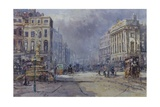 Piccadilly Circus in Victorian Times, 2008 Giclee Print by John Sutton