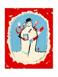 Snowman with Many Arms, 1970s Giclee Print by George Adamson