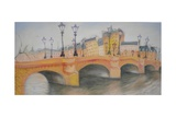 Pont Neuf Et Ile De La Cite, 2010 Giclee Print by Antonia Myatt