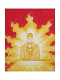 The Presence of Jesus Christ in the Holy Eucharist Is Like a Consuming Fire, 2003 Giclee Print by Elizabeth Wang