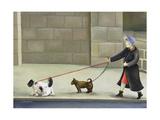 Dog Walker, Ile St. Louis Giclee Print by Caroline Jennings