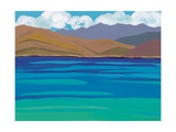 Greek Sea, 2010 Giclee Print by Sarah Gillard