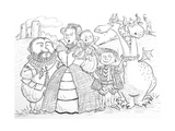 Medieval Family Portrait Giclee Print by Maylee Christie