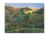 The Long Field, Yatton Keynell Giclee Print by Anna Teasdale