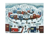 Winter Village, 1969 Giclee Print by Radi Nedelchev