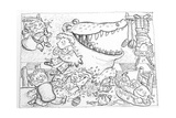 Crocodile's Lunch Giclee Print by Maylee Christie