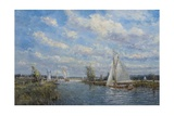 Yachts on the River Ant - Norfolk Broads, 2008 Giclee Print by John Sutton