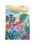Fiery Scarlet Macaw, 2010 Giclee Print by Louise Belanger