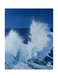 Two Little Waves Breaking, 1989 Giclee Print by Alan Byrne
