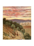 Mount of Olives and Jerusalem Giclee Print by Henry Andrew Harper
