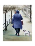 Jardin Des Tuileries, Winter Giclee Print by Caroline Jennings
