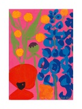 Poppy and Delphinium, 1998 Giclee Print by Sarah Gillard