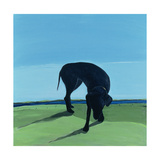 Joe's Black Dog, 1996 Giclee Print by Marjorie Weiss