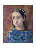 Painting of a Young Girl, 1993 Giclee Print by Alan Byrne