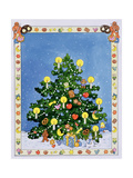 Christmas Tree Giclee Print by Christian Kaempf