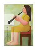 Girl with Clarinet, 1986 Giclee Print by Reg Cartwright