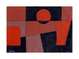 Related Reds with Black, 1999 Giclee Print by George Dannatt