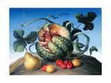 Melon on a Mountain Giclee Print by Amelia Kleiser