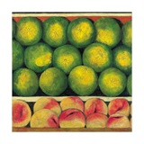 Green Oranges and Peaches, 1999 Giclee Print by Pedro Diego Alvarado