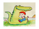 Crocodile Hug, or Best Friends Giclee Print by Maylee Christie
