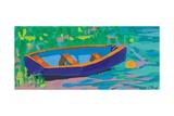 Blue Boat, 2009 Giclee Print by Sarah Gillard