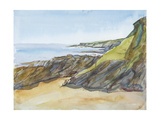 Rocky Beach on the Roseland Giclee Print by Erin Townsend