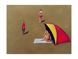 Family Group, Weston Sands, 2004 Giclee Print by Peter Breeden