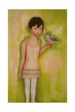 Trust-Girl with a Sparrow Hawk, 2010 Giclee Print by Stevie Taylor