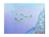Snorklers Giclee Print by William Ireland