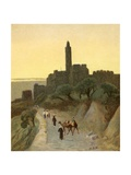 Jerusalem, David's Tower Giclee Print by Henry Andrew Harper