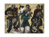 Jazz Night at St. Mary's, 2011 Giclee Print by Chris Gollon