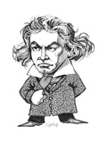 Beethoven Giclee Print by Gary Brown