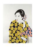 Yellow Kimono, 1996 Giclee Print by Alan Byrne