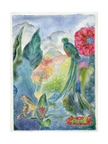 Cloud Forest with Swallowtail Butterfly, 2010 Giclee Print by Louise Belanger
