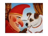 Toby and Punch, 1994 Giclee Print by Frances Broomfield