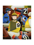 Jockeys, 1984 Giclee Print by Reg Cartwright