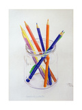 Coloured Pencils in a Jar, 1980 Giclee Print by Alan Byrne