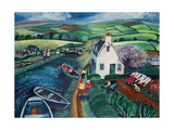 St Catherines Lock Giclee Print by Lisa Graa Jensen