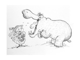 'I'm Not Scared of You, Mr Hippo' Giclee Print by Maylee Christie