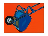Blue Wheelbarrow, 2010 Giclee Print by Sarah Gillard